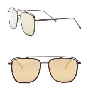 Quay Mr Black Gold Black Mirrored Sunglasses